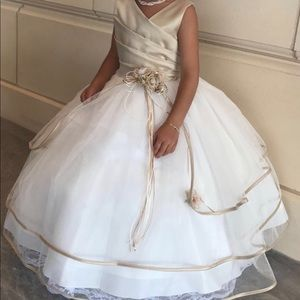 Toddler girls flower girl dress